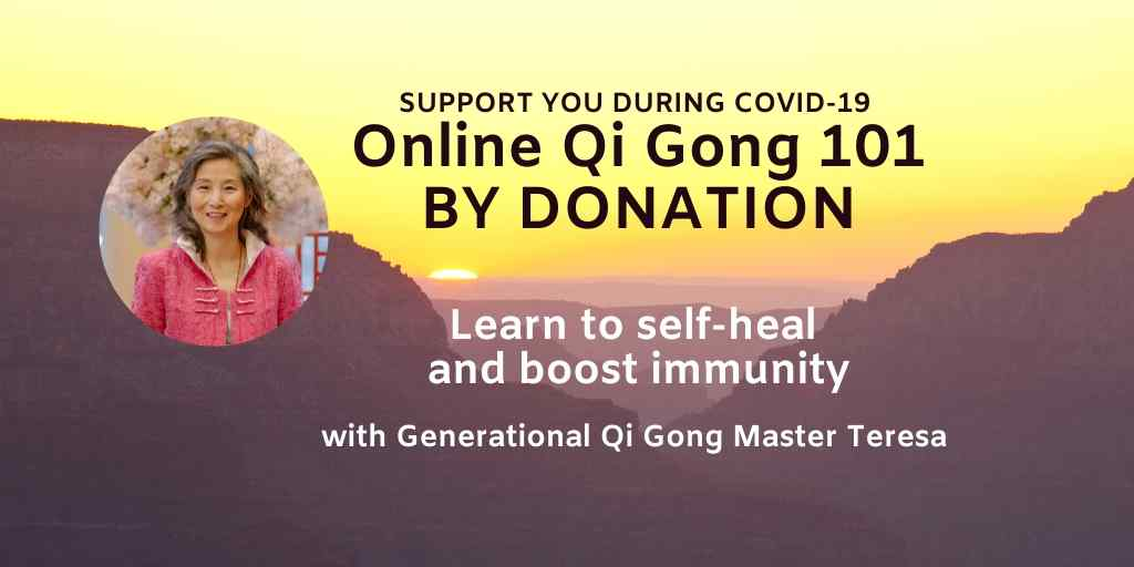 By donation Qi Gong class and Free webinars